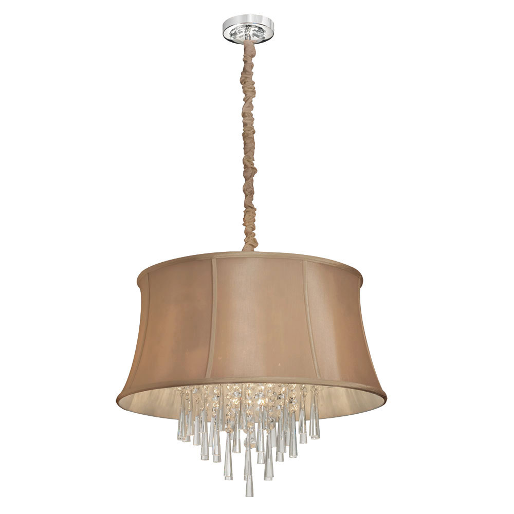 Image may not reflect selected features for 6 light crystal chandelier
