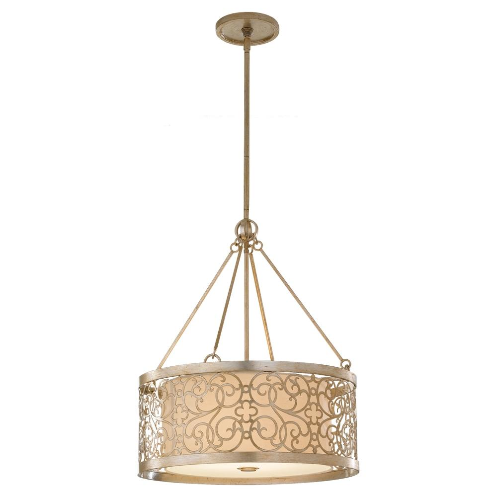Pendant lighting drum shade : Image may not reflect selected features
