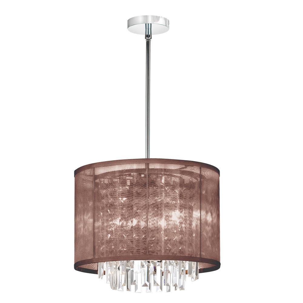 three light chrome drum shade pendant 15123 pc 110 living lighting