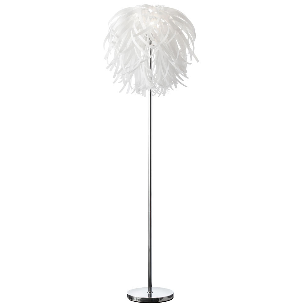 Vinyl Floor Lamp-White