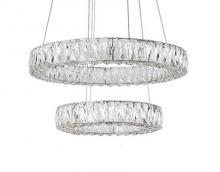 Kuzco Lighting Inc CH7824 - Two Tiered LED Chandelier with Exquisite Diamond Cut Clear Crystals