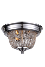 Elegant 1210F12PW - 1210 Paloma Collection Flush Mount D:12in H:6.5in Lt:2 Pewter Finish