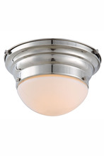 Elegant 1475F9PN - 1475 Daisy Collection Flush mount D:9.5in H:5.5in Lt:1 Polished Nickel Finish