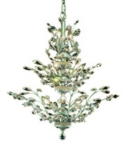 Elegant 2011D27C/RC - 2011 Orchid Collection Chandelier D:27in H:27in Lt:13 Chrome Finish (Royal Cut Crystals)