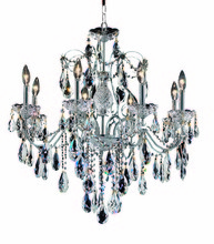 Elegant 2016D26C/SS - 2016 St. Francis Collection Chandelier D:26in H:23in Lt:8 Chrome Finish (Swarovski� Elements Crystal