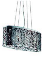 Elegant 2053D26C/RC - 2053 Soho Colloection Pendant L:26 in W:9.5in H:11in Lt:4 Chrome Finish (Royal Cut Crystals)