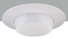 "Elegant REP12WH - 6"" Line voltage Shower Trim Drop Opal Plastic Ring"